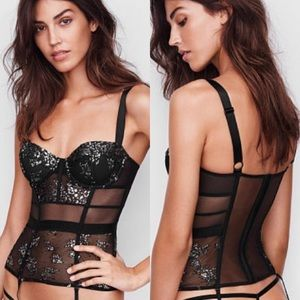 Victoria Secret bodysuit Corset teddy New with Tag